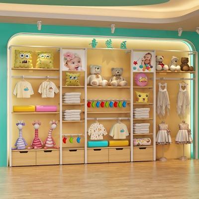 母婴店靠墙边柜2