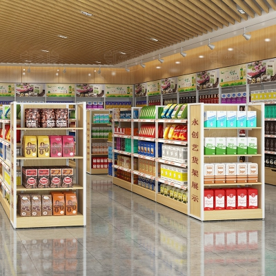 Convenience store shelves - middle cabinet