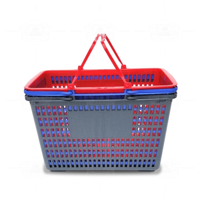 Shopping basket (plastic handle gray)