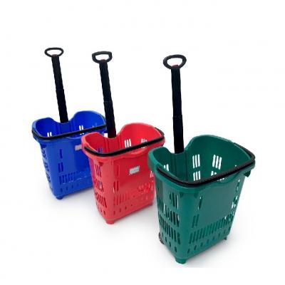Trolley handle shopping basket YCY6603