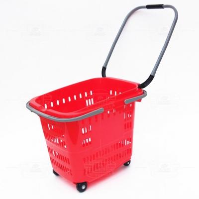 拉杆提手购物篮YCY6608(红色)