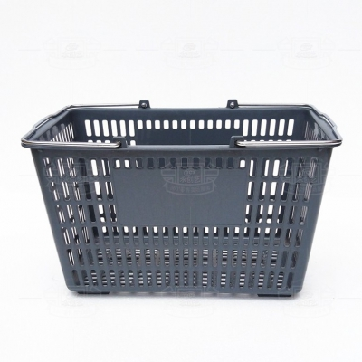 Plastic shopping basket (iron handle gray)