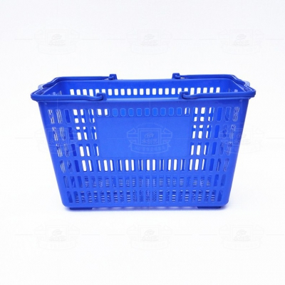 Shopping basket (plastic handle blue)