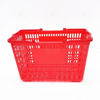 Shopping basket (plastic handle red)