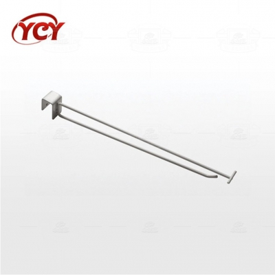 Square tube double hook W019
