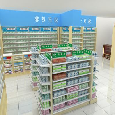 药店超市货架的作用