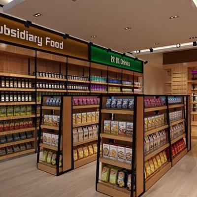 靠墙木制超市货架固定方法